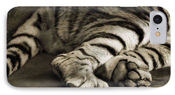 Tiger Paws IPhone Case by Dan Sproul