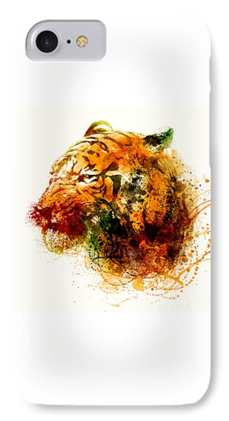 Tiger Side Face IPhone Case by Marian Voicu