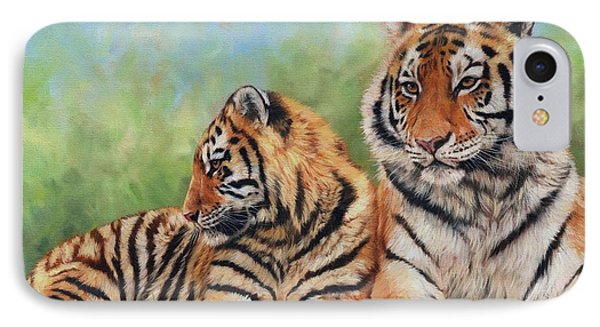 Tigers IPhone Case by David Stribbling