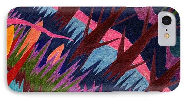 Tile 37 - These Woods Are Lovely IPhone Case by Sean Corcoran