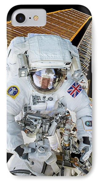 Tim Peake's Spacewalk IPhone Case by Nasa