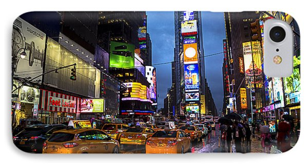 Times Square In The Rain Phone Case by Garry Gay