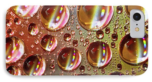 Tiny Water Beads And Spectrum Colors Phone Case by Heiko Koehrer-Wagner