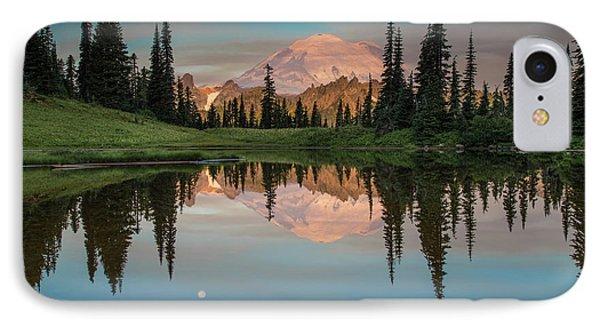 Tipsoo Lake Mt. Rainier Washington IPhone Case by Larry Marshall
