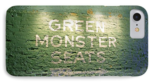 To The Green Monster Seats IPhone Case by Barbara McDevitt