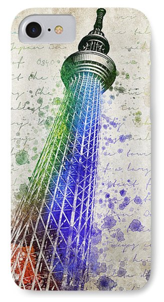 Tokyo Skytree IPhone Case by Aged Pixel
