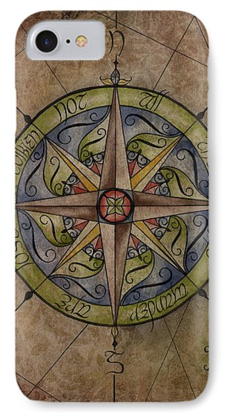 Tolkien's Compass IPhone Case by Kyla Ryan