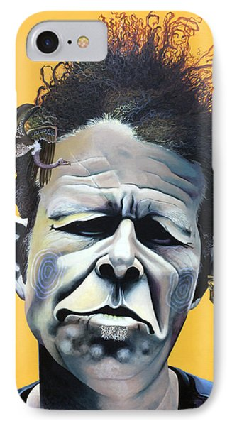 Tom Waits - He's Big In Japan IPhone Case by Kelly Jade King