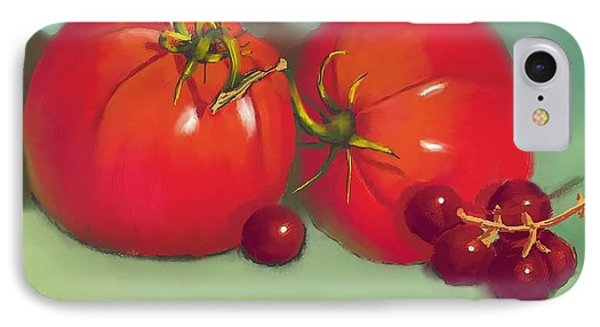 Tomatoes And Concord Grapes Phone Case by Dessie Durham