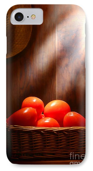 Tomatoes At An Old Farm Stand IPhone Case by Olivier Le Queinec
