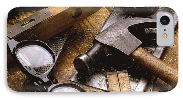 Tools IPhone Case by Tony Cordoza