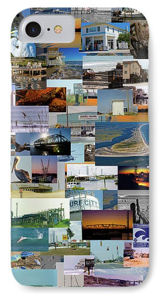 Topsail Island Nc Collage  IPhone Case by Betsy Knapp