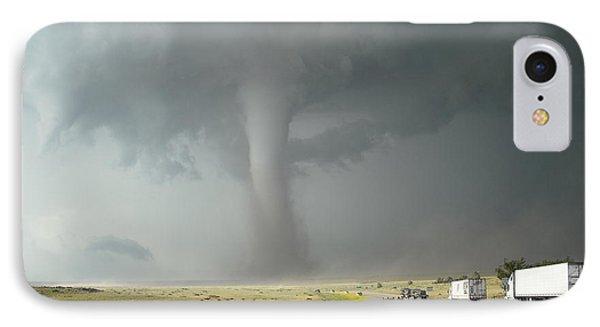 Tornado Truck Stop Phone Case by Ed Sweeney