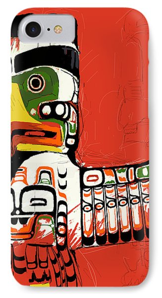 Totem Pole 02 IPhone Case by Catf