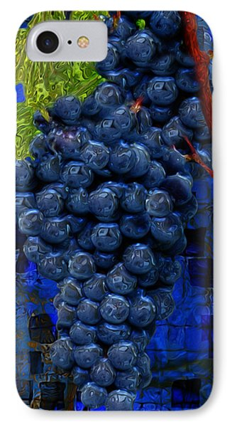 Touch Of The Grape IPhone Case by Jack Zulli
