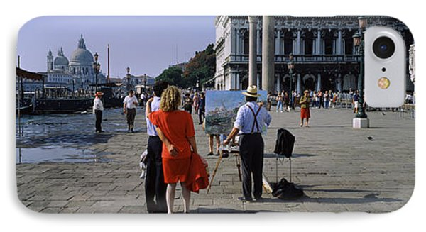Tourists At A Town Square, St. Marks IPhone Case by Panoramic Images