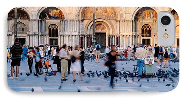 Tourists In Front Of A Cathedral, St IPhone Case by Panoramic Images