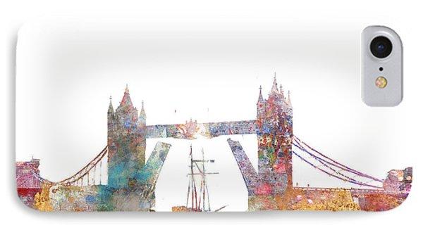 Tower Bridge Colorsplash IPhone 7 Case by Aimee Stewart