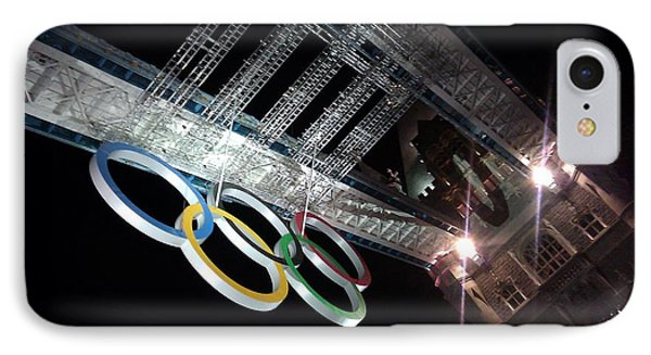Tower Bridge London Olympics Night IPhone Case by Ted Williams
