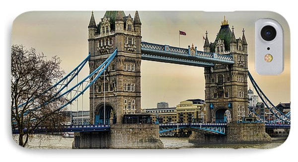 Tower Bridge On The River Thames IPhone 7 Case by Heather Applegate