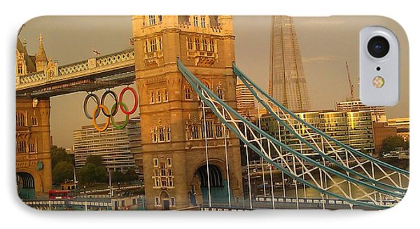 Tower Bridge London Olympics IPhone Case by Ted Williams