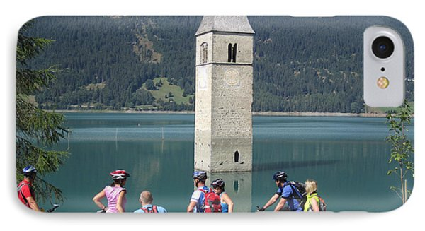 IPhone 7 Case featuring the photograph Tower In The Lake by Travel Pics