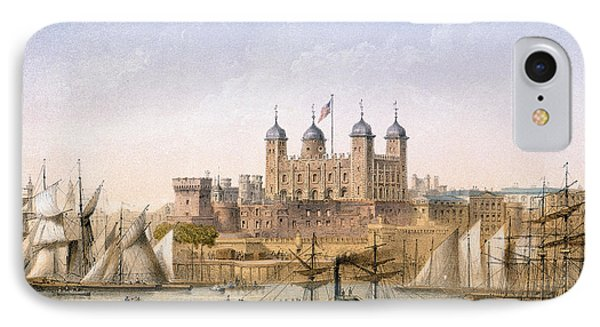 Tower Of London, 1862 IPhone Case by Achille-Louis Martinet