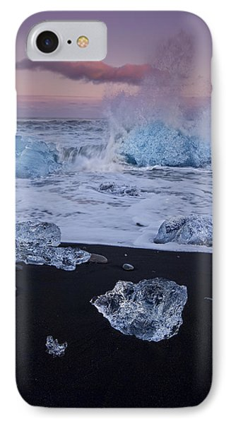 Trail Of Diamonds Phone Case by Evelina Kremsdorf