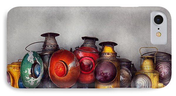 Train - A Collection Of Rail Road Lanterns  Phone Case by Mike Savad