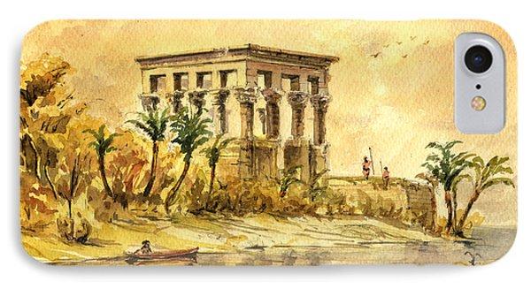 Trajan Kiosk Temple Aswan Egypt IPhone Case by Juan  Bosco