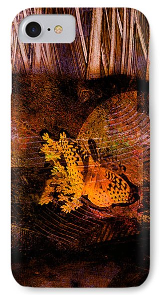 Tranquility Butterfly Collage Art  Phone Case by Ann Powell