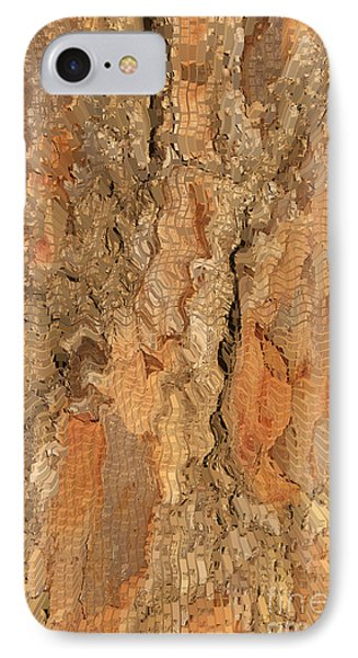 Tree Bark Abstract Phone Case by Cindy Lee Longhini