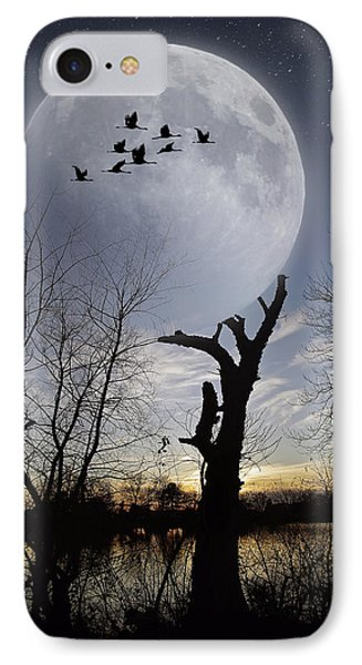 Tree Holding Up The Moon IPhone Case by Brian Wallace