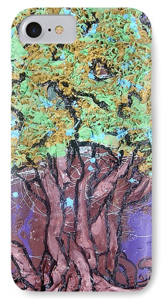 Tree In Three Dee Phone Case by Genevieve Esson
