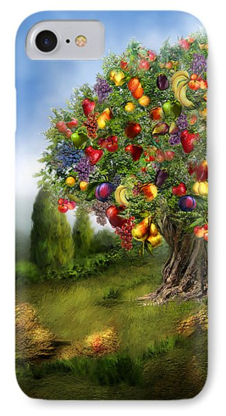 Tree Of Abundance IPhone Case by Carol Cavalaris