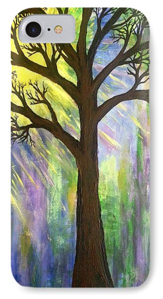 Tree On Blue  Phone Case by Christine Chase