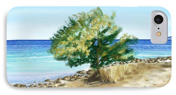 Tree On The Beach IPhone Case by Veronica Minozzi