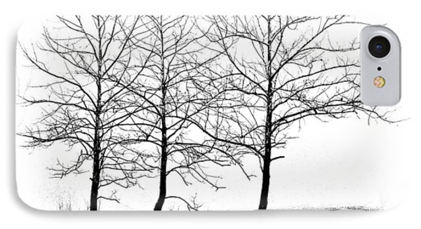 Trees At Water's Edge IPhone Case by Tom Mc Nemar