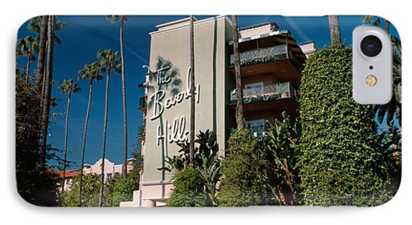 Trees In Front Of A Hotel, Beverly IPhone Case by Panoramic Images