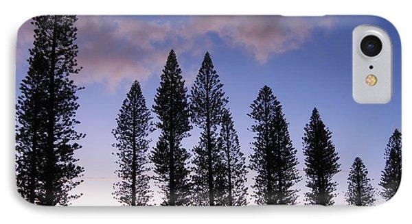 Trees In Silhouette Phone Case by Adam Romanowicz