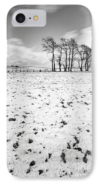 Trees In Snow Scotland IIi IPhone Case by John Farnan
