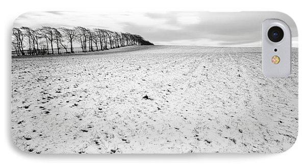 Trees In Snow Scotland IPhone Case by John Farnan
