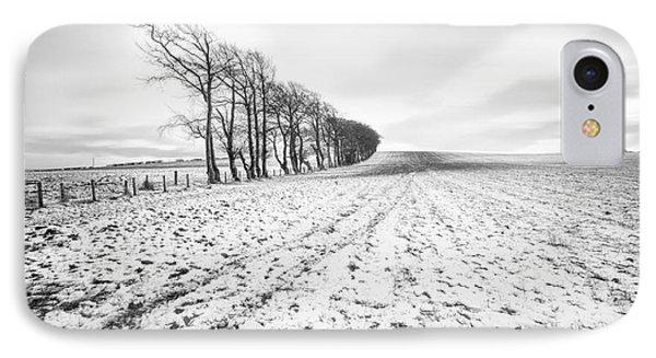 Trees In Snow Scotland V IPhone Case by John Farnan
