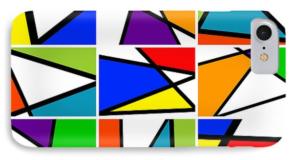 Triangularism Enneaptych I IPhone Case by Richard Reeve
