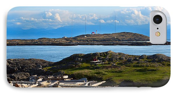 Trial Island And The Strait Of Juan De Fuca Phone Case by Louise Heusinkveld