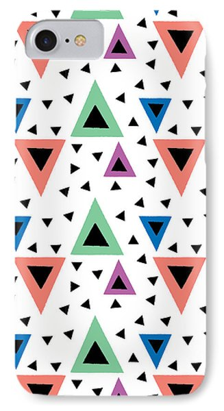 Triangular Dance Repeat Print IPhone 7 Case by Susan Claire