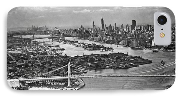 Triborough Bridge Is Completed IPhone Case by Underwood Archives