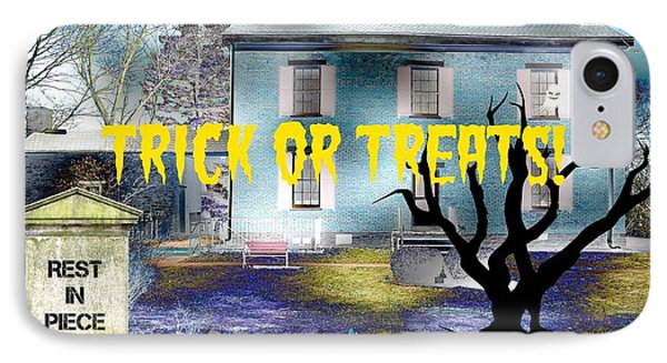 Trick Or Treats Haunted House Phone Case by Skyler Tipton