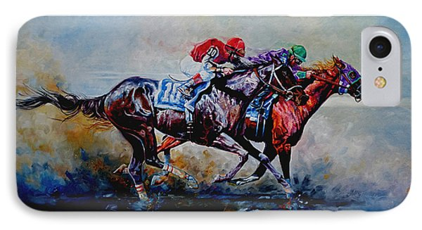 The Preakness Stakes IPhone Case by Hanne Lore Koehler
