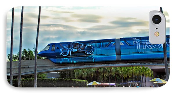 Tron Monorail At Walt Disney World Phone Case by Thomas Woolworth